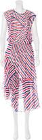Preen Line Striped Asymmetrical Dress