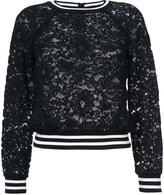 Veronica Beard Jett lace sweatshirt - women - Cotton/Nylon/Viscose - 4
