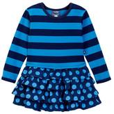 Toobydoo Stripe Top Ruffle Bottom Dress (Toddler, Little Girls, & Big Girls)