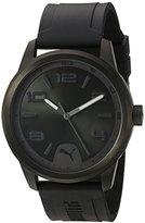 Puma Quartz Stainless Steel and Polyurethane Watch, Color:Black (Model: PU104041003)