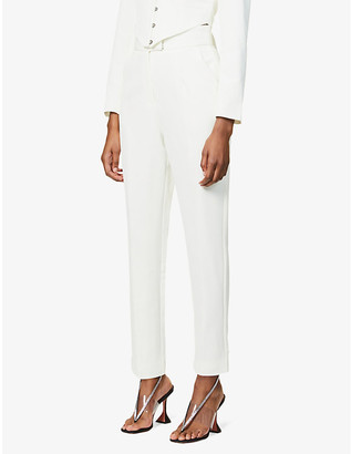 Lavish Alice High-rise tapered crepe trousers