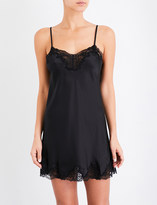 Nk Imode Morgan silk-satin and lace chemise