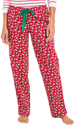 Vineyard Vines Family Red Velvet Knit Pajama Pants