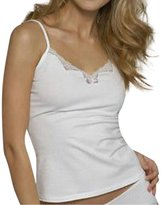 Figleaves Ladies Cute 100% Cotton Lace Trim Camisole Cami & Panty Shorts Set / US
