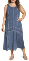 XCVI Plus Size Women's Lace Trim Shift Dress