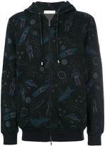 Etro space print hooded jacket - men - Cotton/Polyamide - M