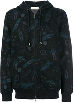 Etro space print hooded jacket