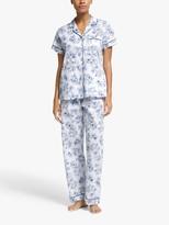 John Lewis & Partners Grace Short Sleeve Pyjama Set, Pale Blue