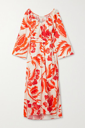 Mara Hoffman Luz Printed Organic Cotton Midi Dress - Orange