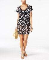 Anne Cole Vines Printed Mesh Tunic Cover-Up