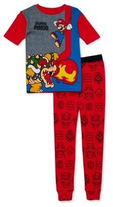 Nintendo Mario Boys' Exclusive 4-10 Short Sleeve Long Pant Pajamas 2-Piece Set