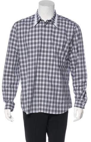 Givenchy 2016 Plaid Contrast Shirt