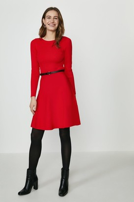 Coast Long Sleeve Knitted Crew Neck Skater Dress
