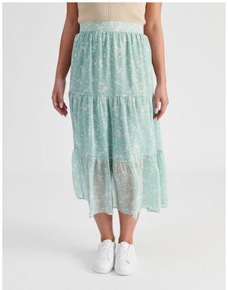 Tokito Petite Tiered Maxi Skirt