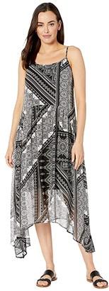 Karen Kane Shirred Cami Dress (Print) Women's Dress