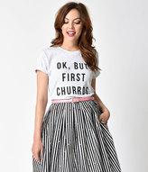 Lucky Rabbit Supply Co. Heather Grey Short Sleeve 'But First, Churros' Unisex Tee
