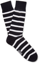 Armor Lux - Striped Stretch Cotton-blend Socks