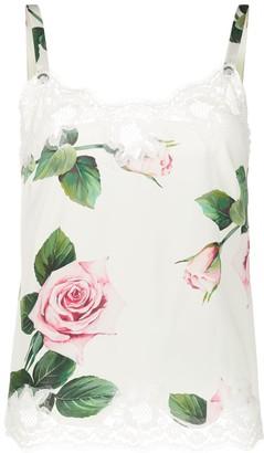 Dolce & Gabbana Rose Print Camisole