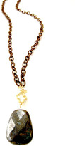 Jessica Elliot Long Boho Chic Necklace with Vermeil Clover