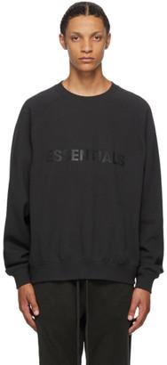 Essentials Black Crewneck Pullover Sweatshirt