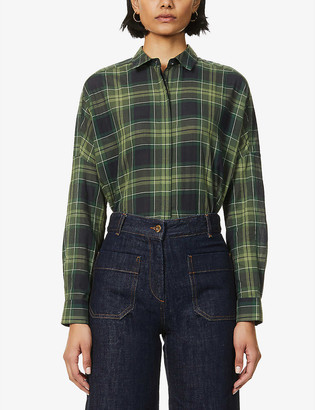 Sessun Delima tartan cotton shirt