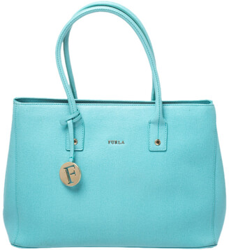Furla Mint Green Leather Linda Tote