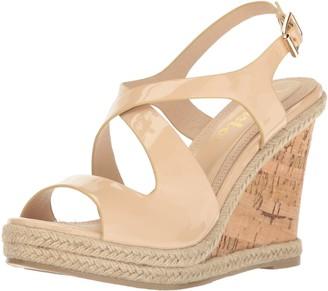 Callisto Women's Brielle Wedge Sandal Nude Patent 10 M US