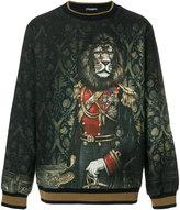 Dolce & Gabbana royal lion print sweater