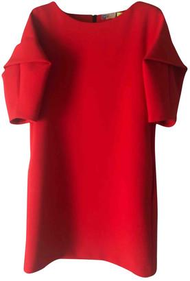 MSGM Red Wool Dresses