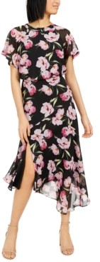 INC International Concepts Inc Floral Asymmetrical-Hem A-Line Dress, Created for Macy's