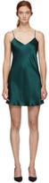 Simone Perele Green Silk Dream Slip Dress
