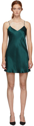 Simone Perele Green Silk Dream Slip Dress