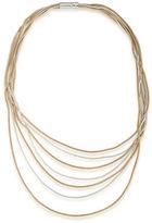 Lauren Ralph Lauren 14K Gold-Plated Two-Tone Snake Chain Necklace