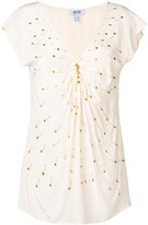 Moschino Pre Owned 2000's pin embellished blouse