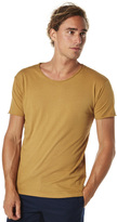 Silent Theory Basic Raw Edge Unisex Tee Yellow