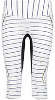 Lucas Hugh Nordica Cropped Striped Stretch Leggings