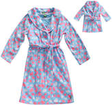 Dollie & Me Blue & Pink 'Sweet Dreams' Robe, Nightgown & Doll Outfit - Girls