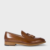 Paul Smith Men's Tan Calf Leather 'Haring' Tasseled Loafers