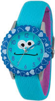 Sesame Street Blue Cookie Monster Hearts Time Teacher Strap Watch W003165