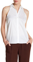 Laundry by Shelli Segal Sleeveless Button Poplin Tank