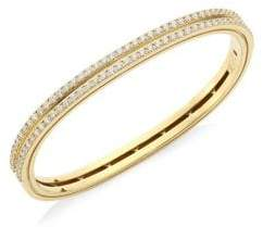 Roberto Coin Portofino 18K Yellow Gold& Diamond Bangle