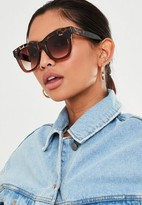 Missguided Quay X Chrissy After Hours Brown Sunglasses