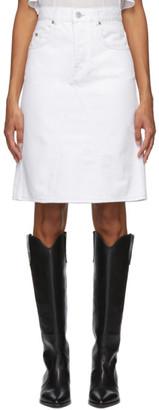 Etoile Isabel Marant White Fiali Denim Skirt