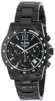 A Line a_line Women's AL-80020-BB-11MOP Liebe Chronograph Black Dial Black Ion-Plated Stainless Steel Watch