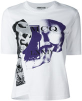 McQ by Alexander McQueen printed asymmetric front T-shirt
