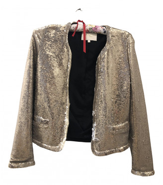 Maje Gold Glitter Jackets