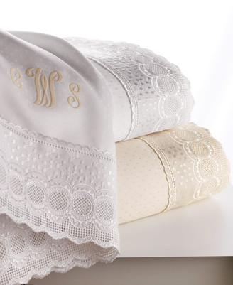 Sferra Full Marcus Collection 400 Thread-Count Lace-Trimmed Sheet Set