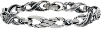 Carolyn Pollack Sterling Silver Small Infinity Link Bracelet 21.0g