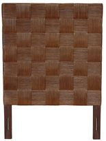 Jeffan Meticulously Woven Brown Geometric Square Twin Headboard