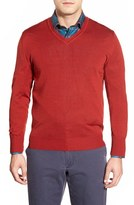 Robert Talbott Men's 'Pasadera' Wool & Silk Blend V-Neck Sweater